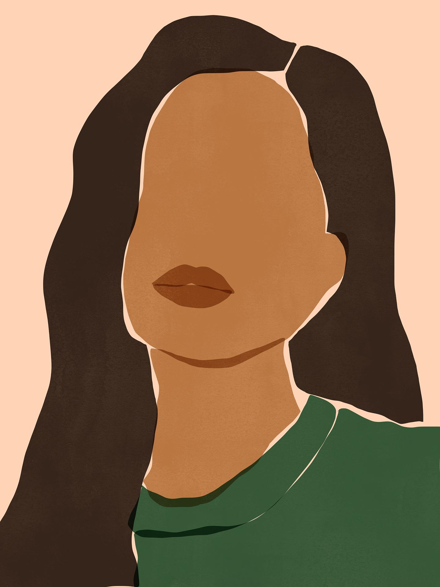 Portrait Woman Textur
